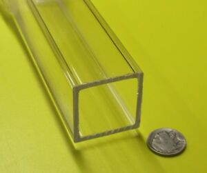 "Acrylic Square Tube Clear Extruded 1.50"" SQ x .125"" Wall x 72"" Length, -056"