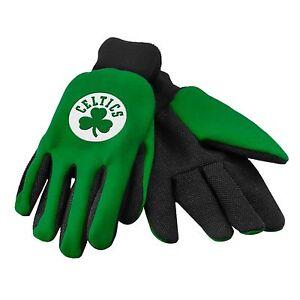 Boston-Celtics-Handschuhe-Sport-Logo-Nutzen-Arbeit-Garten-NEU-Farbige-Palm