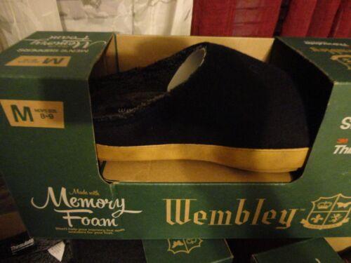 WEMBLEY MEMORY FOAM MEN/'S THINSULATE INSULATION SLIPPERS CLOGS GRAY BLACK SZ M
