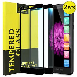 TJS-2-Pack-For-Motorola-Moto-E6-Cover-Tempered-Glass-Screen-Protector