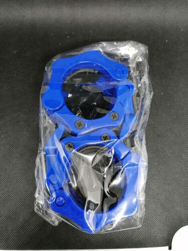 """2 Reehut 2/""""//50mm Blue Olympic Barbell Collar Dumbbell Clamps Carry Case  BNIB"""