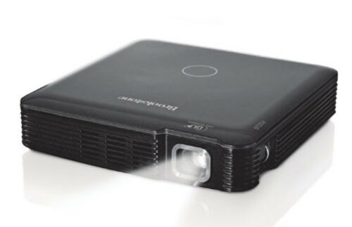 NEW Brookstone Pocket Projector Rechargeable 85 Lumens HDMI WITH NEEDED CABLES