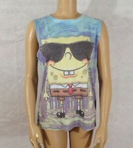 2afde1dadc Image is loading NWOT-Women-039-s-M-Nickelodeon-Spongebob-Squarepants-Beach-