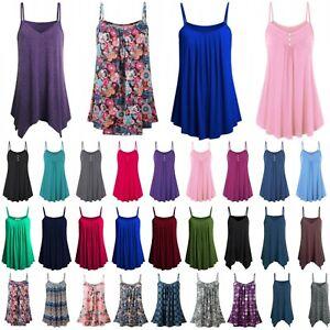 Plus-Size-Womens-Cami-Top-Summer-Vest-Tank-Tops-Sleeveless-Boho-T-Shirts-Blouse