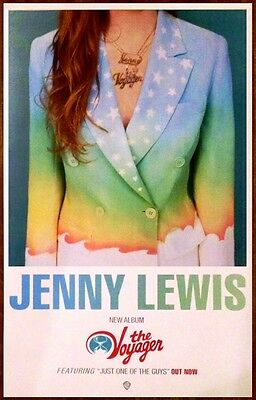 JENNY LEWIS The Voyager Ltd Ed RARE Poster +FREE Indie Pop Rock Dance Poster!