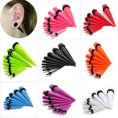 Acrylic Ear Plug Taper Kit Gauges Expander Stretcher Piercing 18pcs NEW