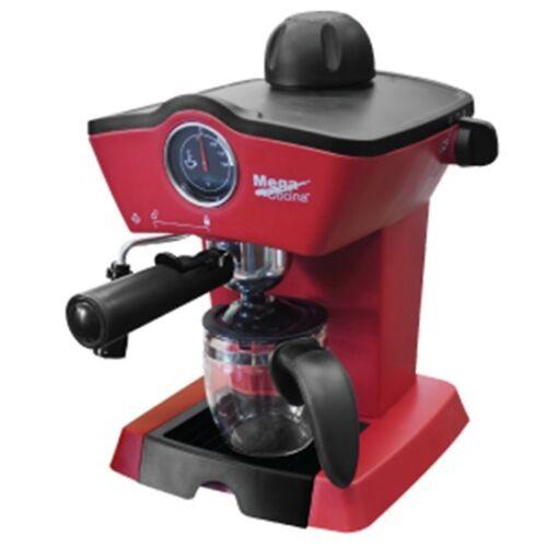 Espresso Cappuccino Coffee Maker Mega Cocina red and black