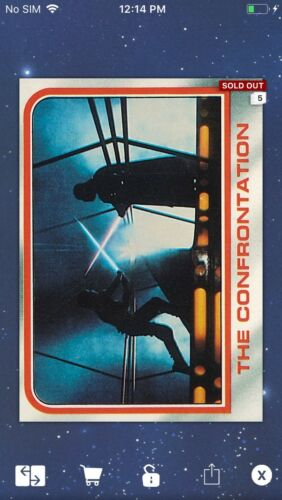 Topps Star Wars Digital Card Trader ESB Selects The Confrontation Insert