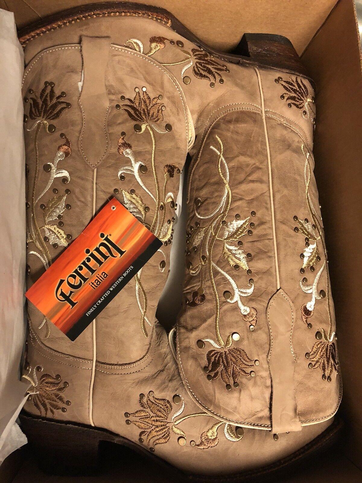 Ferrini Women's Desert Bloom Western Boot New Never Worn 8.5 Women
