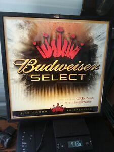 VINTAGE-BUDWEISER-SIGN-LIGHT-LIGHTED-BAR-034-Budweiser-Select-034-Man-Cave-Pool-Room