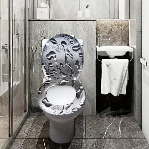 Toilettendeckel WC Sitz Klodeckel mit Absenkautomatik Toilettenbrille Deckel Bad