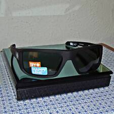 NEW SPY MEN'S McCOY 673012973863 MATTE BLACK FRAME/GRAY GREEN WRAP SUNGLASSES
