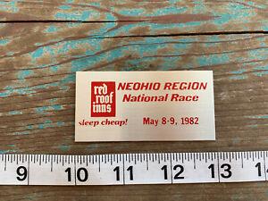 1982-SCCA-NE-OHIO-NATIONAL-RACE-DASH-PLAQUE-NELSON-LEDGES-OHIO-RACEWAY-RACING