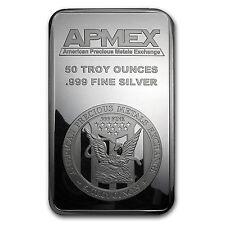 50 oz APMEX Silver Bar - Struck Silver Bar - SKU #83304