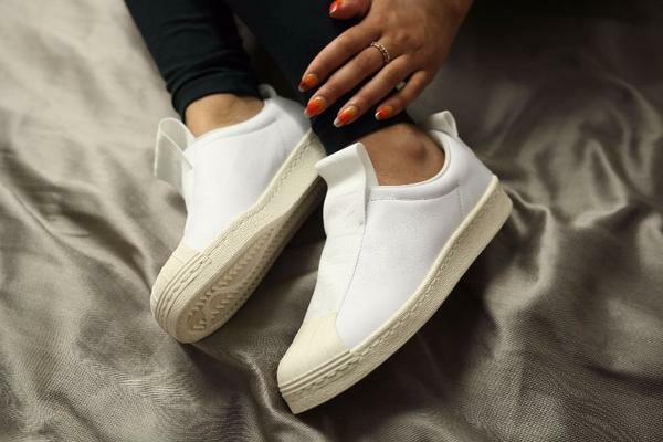 ADIDAS SUPERSTAR TRAINERS BW SLIP-ON WHITE WOMENS TRAINERS SUPERSTAR SIZE UK 7.5 EUR 41 1/3 BY9139 b690eb