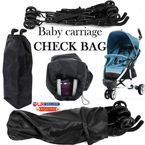 Waterproof Pushchair Buggy Travel Bag Umbrella Stroller Cover Pram Gate Check UK