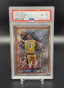1996-Kobe-Bryant-Topps-Finest-w-Coating-Rookie-74-LA-Lakers-PSA-8-SHIPS-ASAP