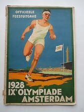 Rare book 1928 Amsterdam Olympic Games IX Olympiade Officieele Feestuitgave