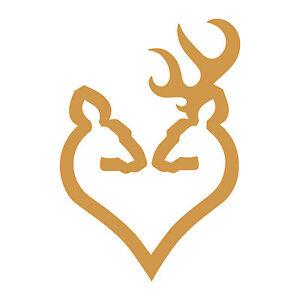 browning arms deer heart logo 4 vinyl decal sticker firearm guns rh ebay com Browning Heart Logo browning deer head heart logo