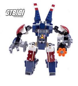 LEGO-SUPER-HEROES-MARVEL-DETROIT-STEEL-MECH-Ref-76077-NO-MINIFIGURAS