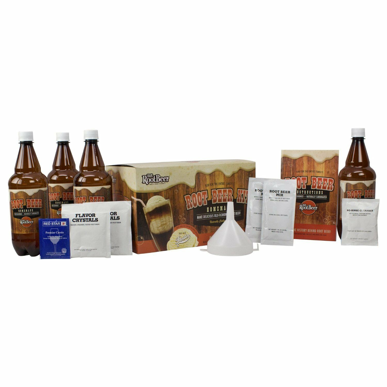 s l1600 Mr. Root Beer Home Brewing Root Beer Kit 20041 New