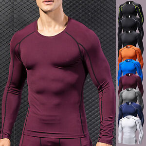 Men-s-Compression-T-Shirt-Long-Sleeve-Base-Layer-Under-Gym-Tight-Sports-Fitness