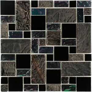 Modular-Black-Gray-Purple-Iridescent-Glass-Stone-Mosaic-Tile-Backsplash-MTO0281