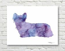 SKYE TERRIER Contemporary Watercolor Abstract ART Print by Artist DJR