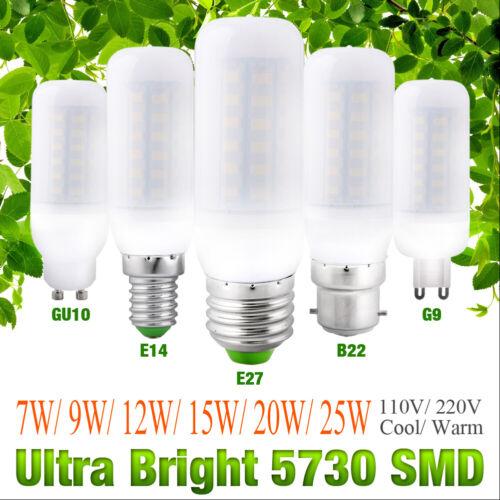 Ultra Bright 5730 LED Corn Bulb Lamp Light Milky White 110V 220V E27 B22 G9 E14