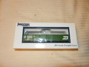 HO-Scale-Industrial-Rail-Plastic-Green-Gondola-Car-Burlington-Northern-554484