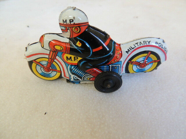 Vintage Russian Soviet Wind-up Motorcycle Tin Toy Ussr Bracing Up The Whole System And Strengthening It Toys & Hobbies