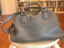 J.CREW Warm Ash LEATHER Biennial Satchel Handbag Hand bag Purse Orig $275