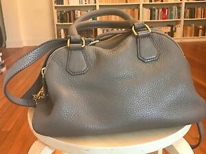 Image Is Loading J Crew Warm Ash Leather Biennial Satchel Handbag