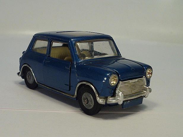 CORGI toys 334 BMC Mini-Cooper avec toit ouvrant bleumetallic Nº 2  217