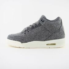 New Womens Nike Air Jordan 3 III Retro Wool BG Trainers Sneakers UK 4 861427 004