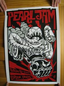 Pearl-Jam-Poster-Silk-Screen-London-2009