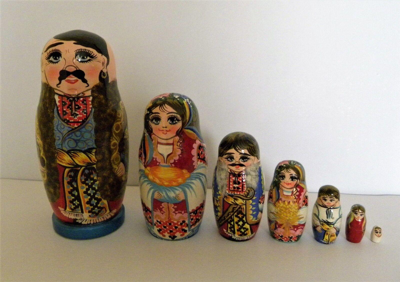 Originale matrioska Cernigovskaya, il cosacco, fatta a uomoo,  7 pezzi, H=17 cm  negozio online outlet