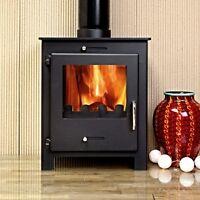 5KW Nero 5 Black Contemporary Woodburning Stove Stoves Multi Fuel Wood Burner