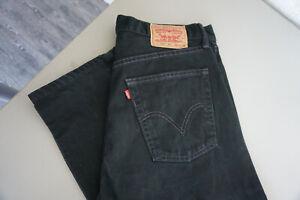 Levis-Levi-039-s-521-Herren-Jeans-Hose-36-36-W36-L36-stonewashed-schwarz-black-ab35