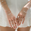 Vanessa-Mooney-Bracelet-White-Bone-w-Turquoise-amp-Coral-amp-Brass-Heishi-NWOT
