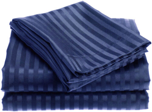 4-Piece Premium Hotel Quality Striped Bed Sheet Sets Assorted Colors /& Sizes