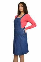 New Boutique Womens Blue Denim Jeans Sleeveless Knee Length Dress 8 10 12 14 16