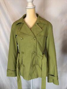 Giacca Womens Raincoat Green Large