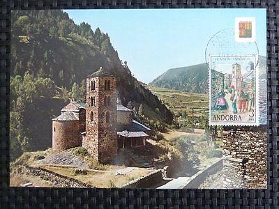 FäHig Andorra Mk 1975 Ausstellung Maximumkarte Carte Maximum Card Mc Cm A9484 Und Ein Langes Leben Haben. Briefmarken
