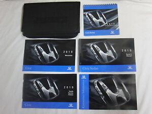 2010 honda civic sedan owners owner s manual guide books literature rh ebay com 2010 honda civic si owners manual 2010 honda civic si owners manual