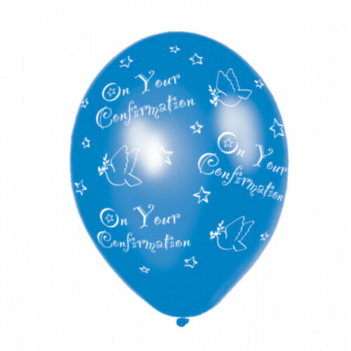 Blue On Your Confirmation All Over Print 27.5cm Latex Balloons x 6