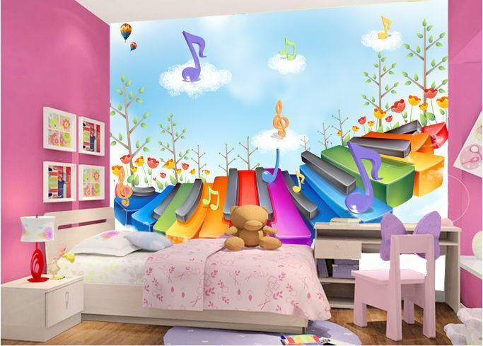 3D musica 197 Parete Murale Foto Carta da parati immagine sfondo muro stampa