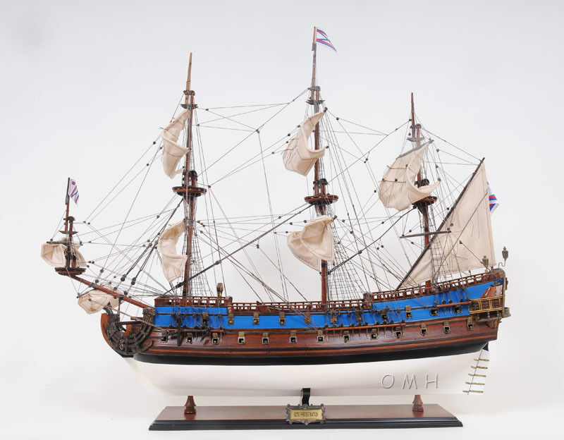Goto Predestination 38  Handmade Wooden Russian Painted Quality Tall Ship Model