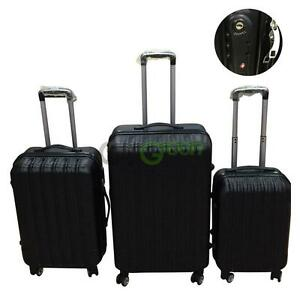 Pcs Luggage Travel Set Bag Abs Spinner Trolley Suitcase