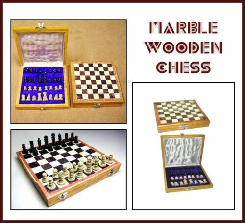 12' X 12' Inches Marble Stone Indian Handmade Unique Chess Pieces and Board Set.